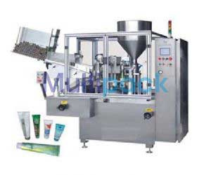 High Speed Linear Double Head Tube Filling Sealing Machine Model No. SBTFS-250