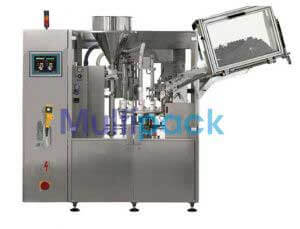 High Speed Linear Single Head Tube Filling Sealing Machine Model No. SBTFS-200